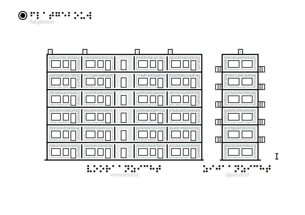 tactiele tekeningen flatgebouw