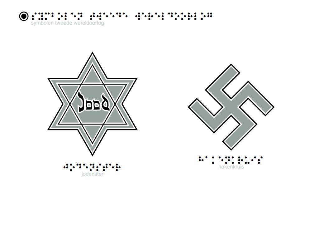Tactiele Tekeningen Symbolen Tweede Wereldoorlog