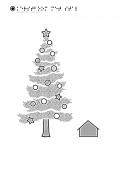 kerstboom met stal
