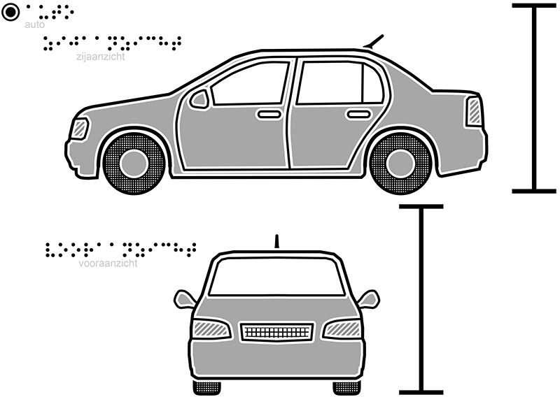 tactiele tekeningen – auto